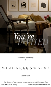 Michael Dawkins Home Retail & Design Studio in NYC