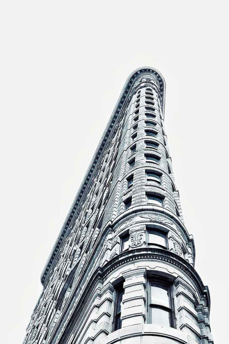 low angle photo of flatiron building